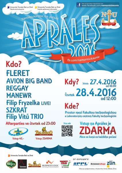 Apráled Zlín 2016 program