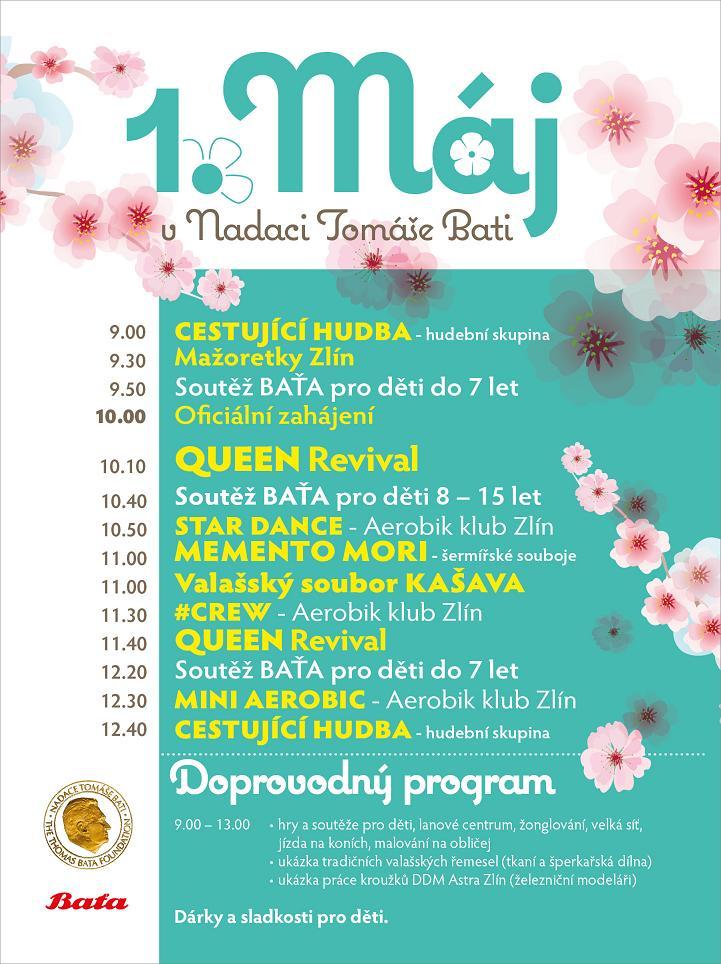 1. máj Baťova vila - program