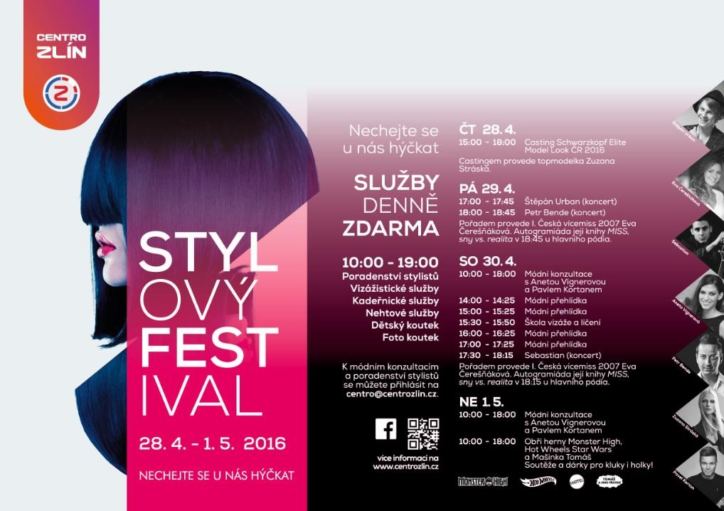 Stylový festival Zlín Malenovice 2016 program