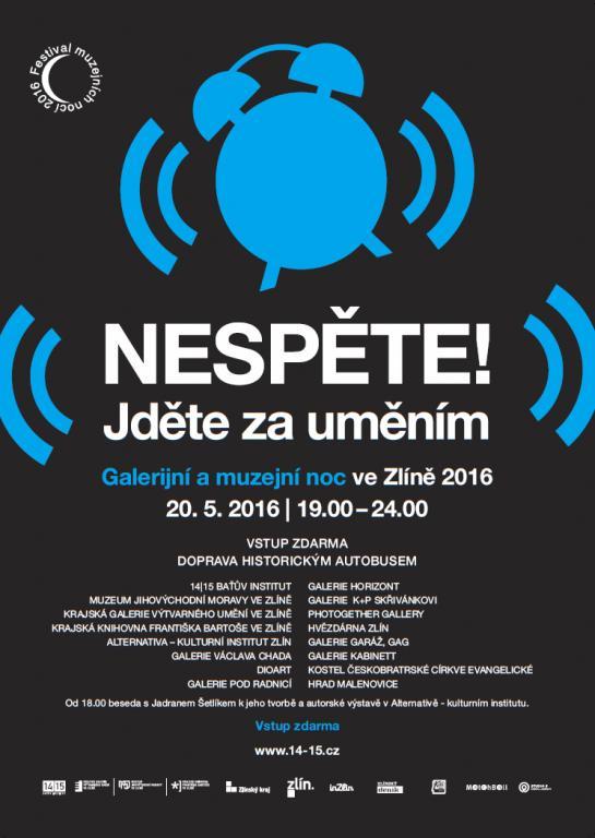 Galerijní a muzejní noc 2016 Zlín program