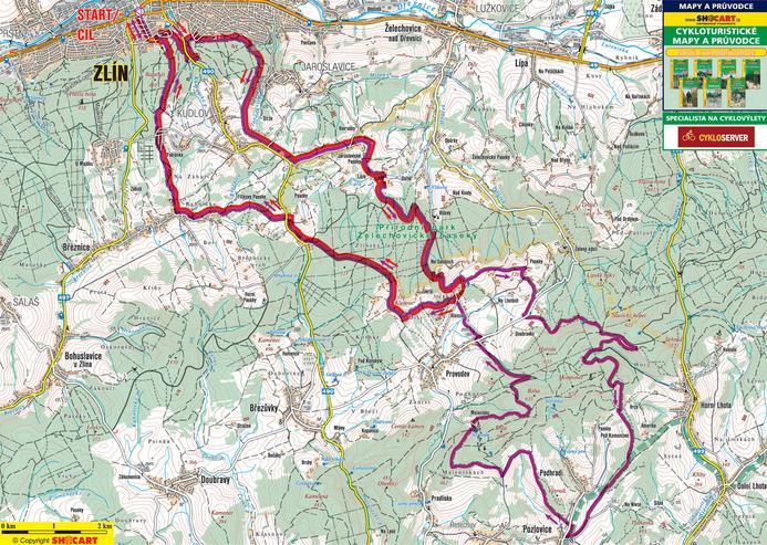Zlínská 50 - mapa